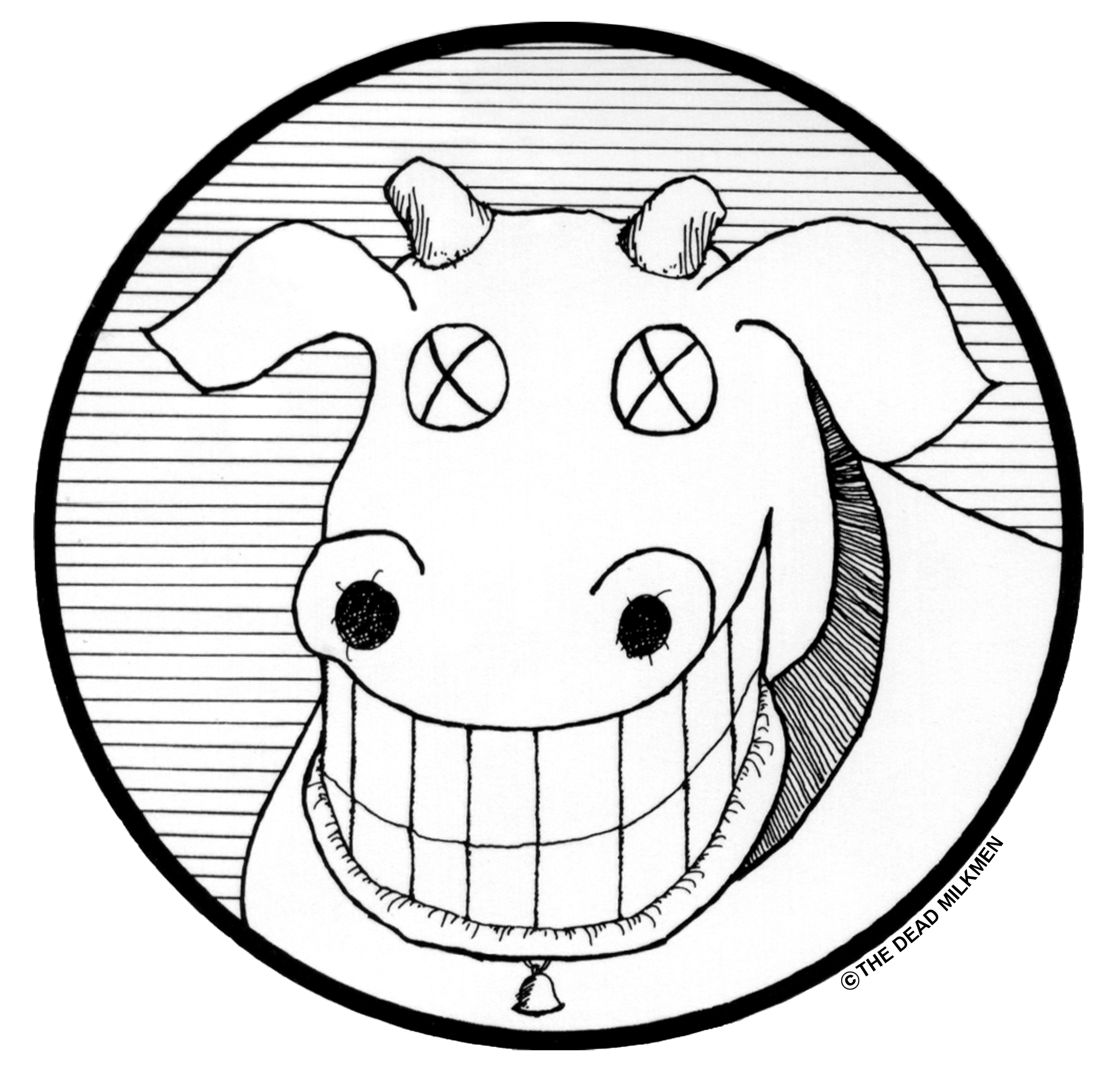 Official Elsie the Cow Dead Milkmen Logo